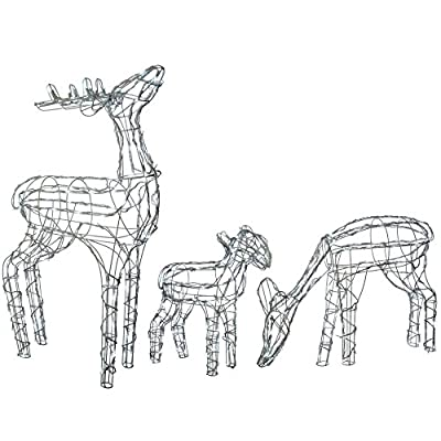 Gorgeous Garden Light Up Silhouette Reindeer's Choice of Design - Bright White Lights