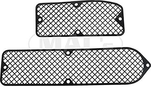 Eckler's MACs Auto Parts 9048279 Fairlane 71 Torino/Ranchero/Montego Cowl Vent Screens Molded Black Plastic
