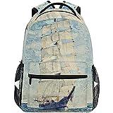 Zaino,Daypacks Durevoli Della Nave Di Mare Dell'Oceano Schooner Per I Bambini Dell'Adolescenza Degli Adolescenti,40cm(H) x29cm(W)