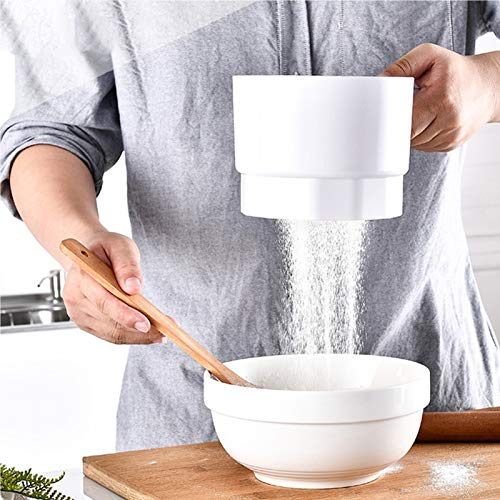 Electric Flour Sifter, Battery Operated Flour Sifter, 60 Mesh Handheld Sieve Flour Strainer, Pastry Baking Utensil, Kitchen Cooking Tool