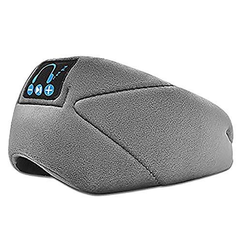 WeiCYN Bluetooth Headset-Schlaf-Augen-Schablone, Artifact Schlafmittel, Nicht-Drücken Music Call Headset Schlaf Augenmaske (Color : Gray)