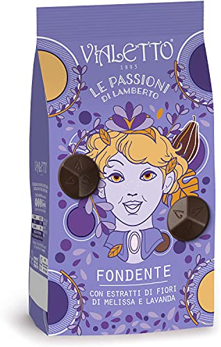 Vialetto le Passioni di Lamberto | Praline al cioccolato fondente con estratti di fiori di melissa e lavanda| Confezione da 150 grammi