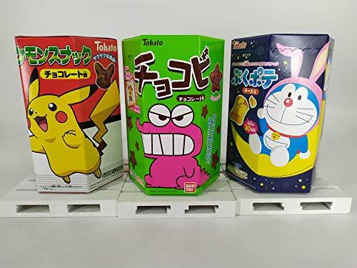 3 UNID x Galletas Tohato Doraemon Puku sabor a Queso + Pokemon Pikachu + Shin Chan Chocolate