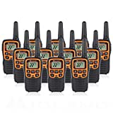 Midland T51VP3 22 Channel FRS Walkie Talkie - Up to 28 Mile Range Two-Way Radio - Orange/Black (Pack of 12)