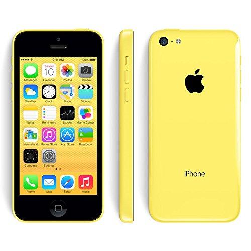Generico - Apple iPhone 5C, smartphone sbloccato 4G iOS 7, display da 4'IPS, fotocamera da 8MP, A1532, Dual Core 1,3GHz, 8GB di ROM, 1GB di RAM, Siri giallo