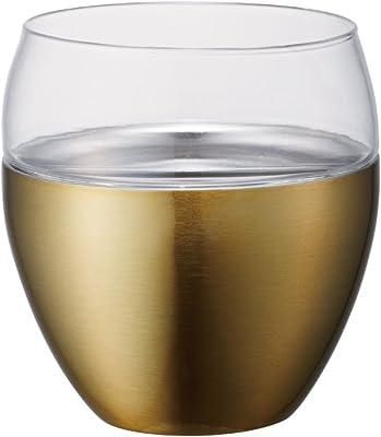 ドウシシャ ロックタンブラー ON℃ZONE (オンドゾーン) 飲みごこち 250ml ゴールド OZNR-250GD