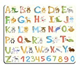 Alphabet Mouse Pad for Kids ABC Learning Tool for Boys and Babies Large A to Z mosue pad Non-Slip Mouse pad Gaming Mouse pad