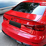 XTT para Audi A3 S3 RS3 Sedan 2014-2018 Coche Fibra de Carbono Top Fit Spoiler Trasero Spoiler de Fibra de Carbono