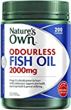 Nature's Own Odourless Fish Oil 2000mg - Source of Omega-3 - Maintains Wellbeing
