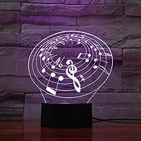 3D LED錯視ランプ サックステーブルランプベッドサイド多色Rgb男の子子供子供ベビーギフト楽器雰囲気Usbナイトライト