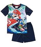 Super Mario Bros. Shorty Pyjama  blau  Gr. 104-152