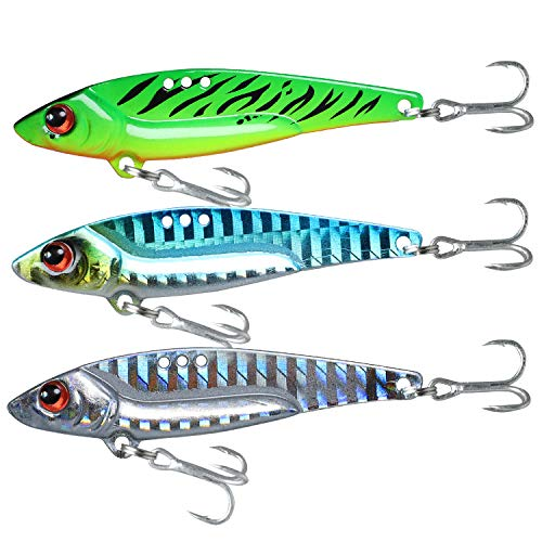 TRUSCEND Fishing Lure VIB for Bass Trout Fishing Spinner Spoon Freshwater Saltwater Bass Fishing Lures Kit
