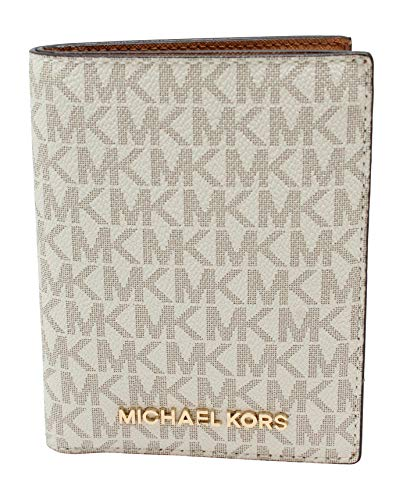 Michael Kors Jet Set Travel Passport Holder Wallet Case PVC 2019 (Vanilla PVC)