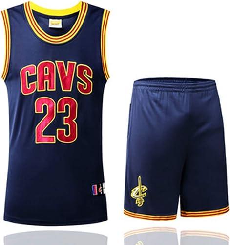 YDYL-LI Cleveland Cavaliers 23 Uniforme De Basket-Ball Maillot James   Lebron James Uniforms Veste De Sport sans Manches Compétition Uniformes Fans Uniformes De Basket-Ball (Taille  S-XXXL),bleu,XXXL