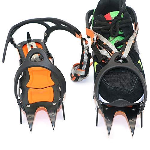Ice Crampones 12 dientes agarre de hielo antideslizante picos de hielo nieve invierno botas de nieve zapatos de tracción tacos de escalada equipo de escalada o senderismo en nieve y hielo