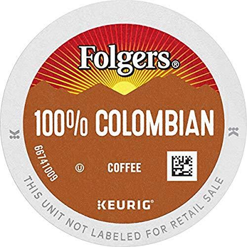 Folgers 100% Colombian Medium Roast Coffee, 32 Keurig K-Cup Pods
