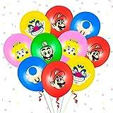 Yisscen Ballons de Super Mario Kit Latex Ballon Fête Fournitures pour Anniversaire Décorations Ballon de Baudruche de Enfants 50 pièces
