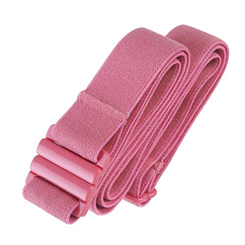 Adjustable elastic belt - Belts for Women, Non-Slip Waist Belt - No Show Flat Buckle Womens Belt (available in plus size ) (Lush Pink | ONE SIZE fits usa 00-16)