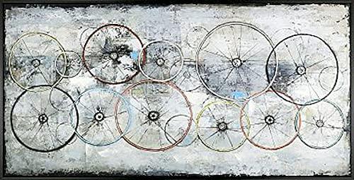 Bike Wheels Wall Decor