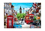 [PuzzleLife] London 2   1000 Piece - Large Format Jigsaw Puzzle. Can be Enjoyed by All Generation. Beautiful Decoration, Pleasant Play