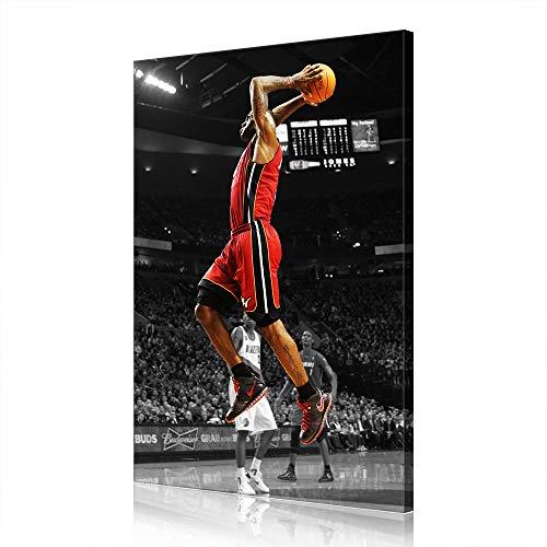 Cave Lebron James Cleveland Cavaliers Canvas Prints NBA Poster Immagine Opera Uomo (prints14,60x90cm)