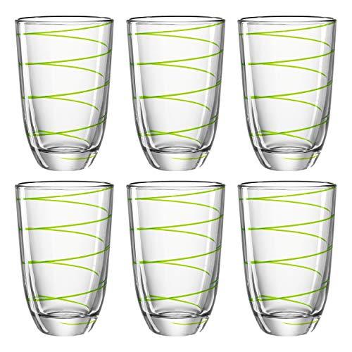 montana: LD Set de 2 Tasses/6 Vert?: Jolly avec décoration de Maison Bois, jus Juice Gobelet Verre à Eau Long Drink