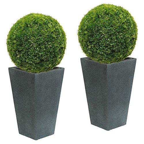 2 x 40 cm Ø künstliche Buchsbaumkugel - Thuja, Spar - Set, sehr natürlich wirkend