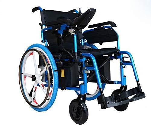 GZZ Magnesium-Aluminium-Fünf-Zinke-Rad Alten Elektro-Rollstuhl Klappleuchte Hinterrad Elektroantrieb,EIN,89 * 48 * 83mm