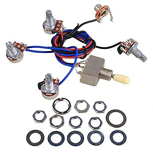 Reemplazo del kit del arnés del cableado de la guitarra eléctrica, 2T2V...