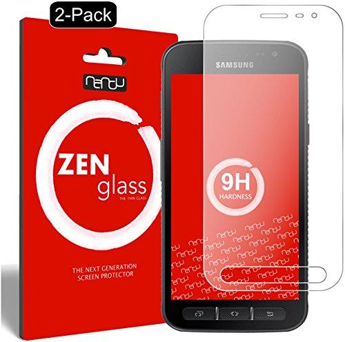 ZenGlass [2 Stück Flexible Glas-Folie kompatibel mit Samsung Galaxy Xcover 4 Panzerfolie I Display-Schutzfolie 9H I (Kleiner Als Das Gewölbte Display)