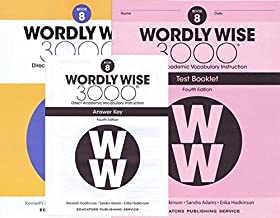 Wordly Wise 3000 Fourth Edition Student Edition + Test Booklet + Answer Key Set Grade 8