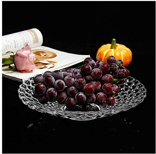 WQF Cuencos de Frutas Plato de Frutas de Vidrio Hogar Creativo Moderno Simple Gran Bocadillo de Dulces Cuenco de Frutas Cubo de Frutas