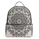 TIZORAX - Mochila para portátil étnica hippie Mandala estilo casual para estudiantes, mochila escolar, bolso de mano, ligera
