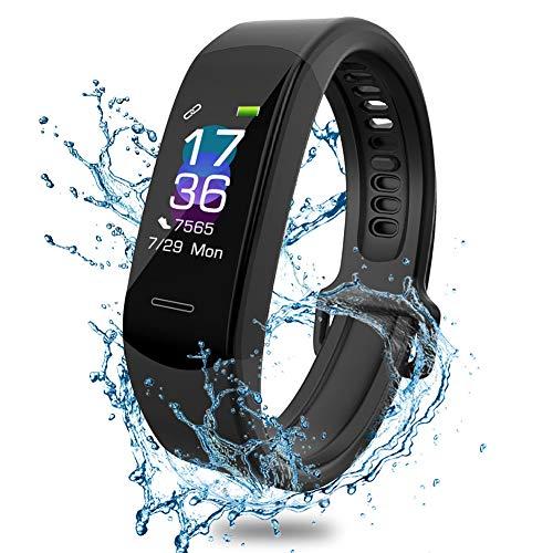 AISIRER Orologio Fitness, Fitness Tracker Braccialetto Schermo a Colori Watch Bracciale Cardiofrequenzimetro da Polso Smartwatch Pedometro Impermeabile IP67 Donna Uomo HR Sport Android iOS Smartphone