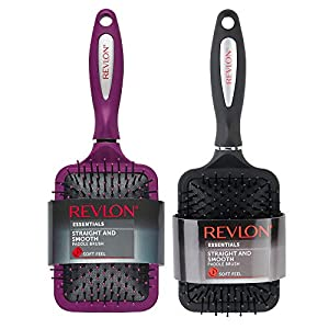 Beauty Shopping Revlon Straight & Smooth Soft Touch Paddle Hair Brush Set,