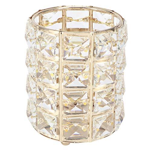 Bloemenvaas, Gouden Cilinder Kristallen Thee Licht Kandelaars Pennenhouder Bloemenvaas Tafel Decor voor Bruiloft Thuis