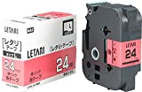 ビーポップミニ テープカセット 24mm幅 赤に黒文字 LM-L524BR