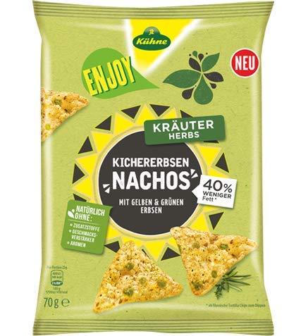 Kühne Enjoy Kichererbsen-Nachos Kraeuter, 70 g