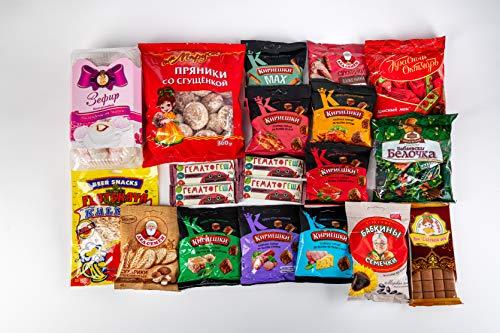 traditionelle russische Süßigkeiten und Knabbereien Schokolade Brotchips Weichkaramell ? ? Geschenk Variation zum Kennenlernen von Spezialitäten aus Russland