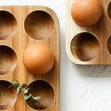 1個 卵ケース 木製の卵ホルダー 12グリッド 玉子ケース エッグホルダー 卵ボックス 卵収納 エッグクレート