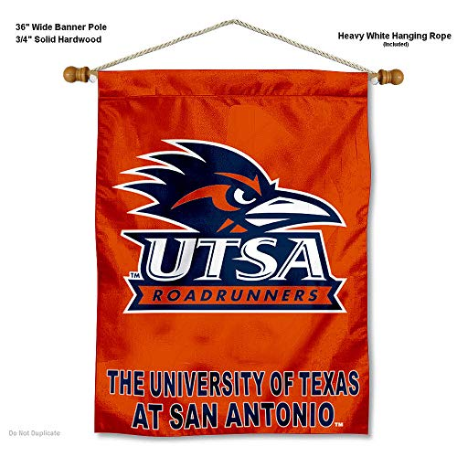 College Flags & Banners Co. Texas San Antonio Roadrunners Banner with Hanging Pole