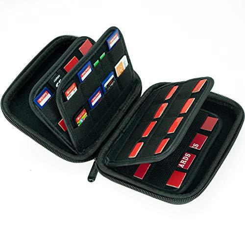 Aufbewahrungstasche mit 63 Steckplätzen, für SD-Speicherkarten, Switch-Spielkartuschen, PS Vita-Spiel und Micro-SD-Karten