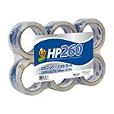 Duck HP260 Packing Tape Refill, 6 Rolls, 1.88 Inch x 43.7 Yards, Clear