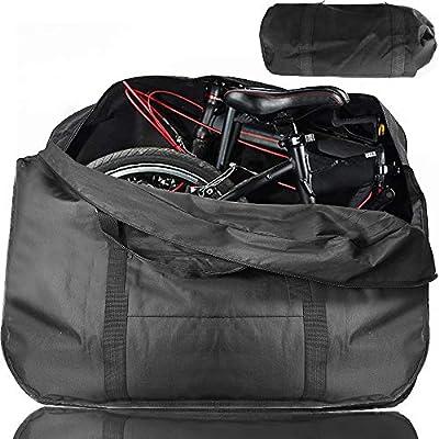 "ODSPTER Fahrrad Transporttasche Klapprad Tasche Tragetasche Fahrrad Transport Abwahrungstasche für 14""- 20"" Faltrad (schwarz)"