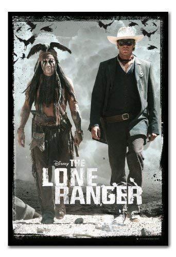 The Lone Ranger Teaser Poster Kork Pinnwand, schwarzer Rahmen, 96,5x 66cm (ca. 96,5x 66cm)