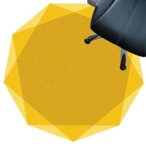 SYEA Protector Suelo Silla Protector De Piso para Escritorios Oficina Y Hogar Tapete Antideslizante Silencioso Resistente Al Desgaste Fácil De Limpiar(Size:160cm(63in),Color:Amarillo)