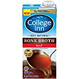 (Pack of 12) College Inn 100% Natural Beef Bone Broth, 12x32 oz. Resealable Cartons