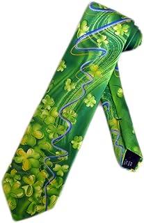 783bfa02b7d6 Jerry Garcia Mens St. Patricks Day Necktie - Green - One Size Neck Tie