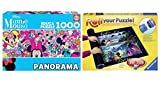Outletdelocio. Pack Puzzle Educa 17991. Minnie Mouse. Panoramico 1000 Piezas + Tapete Puzzle Roll 1500 Piezas.