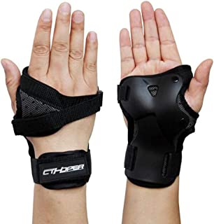 CTHOPER Impact Wrist Guard Protective Gear Wrist Brace Wrist Support for Skating Skateboard Skiing Snowboard Motocross Multi Sport Protection